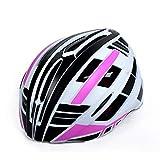 Casco moto con la luce del LED di sicurezza for adulti casco della bicicletta Mountain Road Cycle caschi for bicicletta casco Uomo Donna (Colore: Rosa, Dimensione: Large) lalay (Color : Pink)