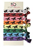 Infinity Collection Horse Hair Accessories, Multi Colored Horse Hair Ties, Cowgirl Hair Ties, No Crease Horse Hair Elastics Set, for Equestrian