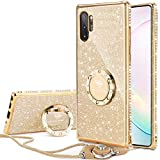 Galaxy Note 10 Plus/Note 10 Plus 5G Case, Glitter Luxury Cute Phone Case for Women Girls with Kickstand, Bling Diamond Rhinestone Bumper with Ring Stand for Samsung Galaxy Note 10 Plus 5G - Gold