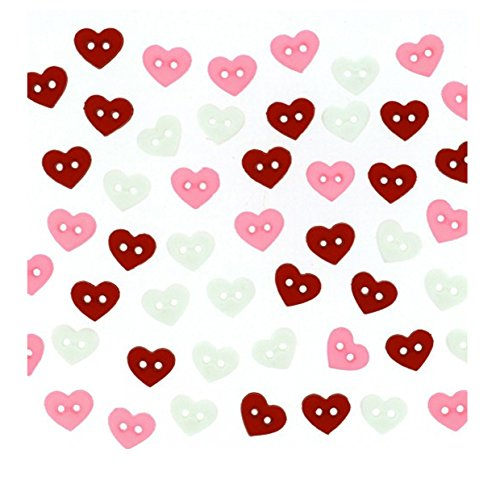 Boutons Dress It Up : Micro Valentine hearts - Mini Boutons Coeur