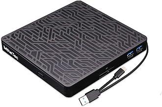 MthsTec External DVD CD Drive, 2-Port Hub USB 3.0 with Type-C SD/TF Card Reader CD/DVD Drive ROM Rewriter Burner for Lapto...
