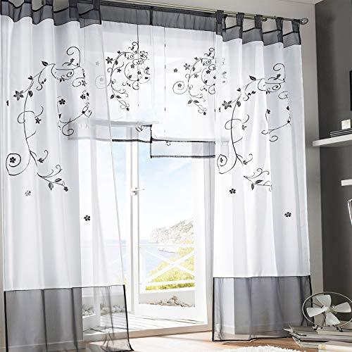 cortinas salon estampadas gris
