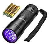 TaoTronics Black Light, 12 LEDs 395nm UV Blacklight Flashlights Detector for Pets Urine and Stains with 3 Free AAA...