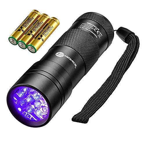 TaoTronics Black Light, 12 LEDs 395nm UV Blacklight Flashlights...