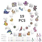 Herefun 19Pcs Perline a Fusione, Perline da Stirare, Fumetto Animale Forma di Plastica Peg...