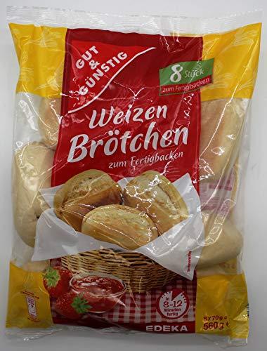Gut und Günstig Weizenbrötchen, 12er Pack (12 x 560g)