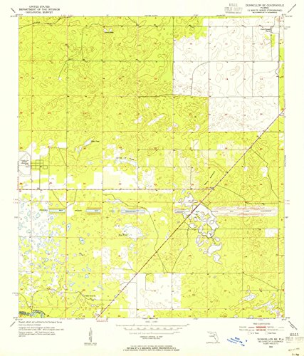 Florida Maps - 1954 Dunnellon, FL - USGS Historical Topographic Wall Art : 24in x 30in