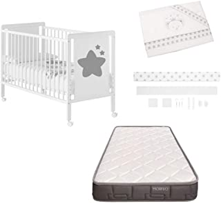 Cuna colecho de bebe Axia + Kit colecho + Colchón HR + 4 ruedas