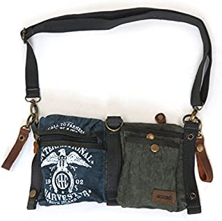 Farmall IH Eagle Navy Canvas & Leather Belt Bag by Selina Vaughan