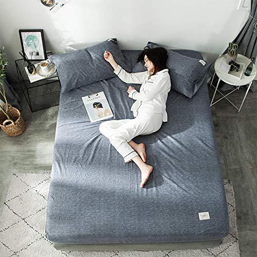 FJMLAY Sábanas ajustablesperfecto para el colchón, sensación Suave,Sábanas Ajustadas, Protector de colchón Antideslizante para Dormitorio Apartment-Grey_3_180 * 200cm