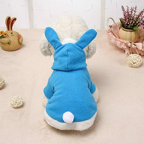 Ropa personalizada para perros Ropa del perro casero, suéter caliente Soft Pink Bunny Ears Tender la ropa, for abrigos for perros suéter del animal doméstico chaquetas con capucha, tamaño: XL (rojo)