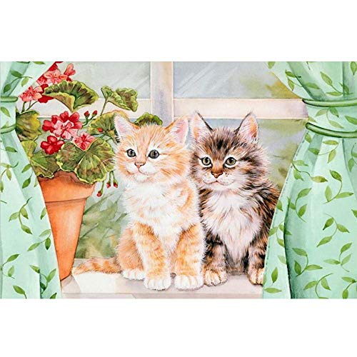 The Best Gift to Kill Boring Time - Wooden Puzzle 1000 Pieces of Adult Decompression Children's Educational Toy Gift, Puzzle Sets for Family, Educational Games,Cats