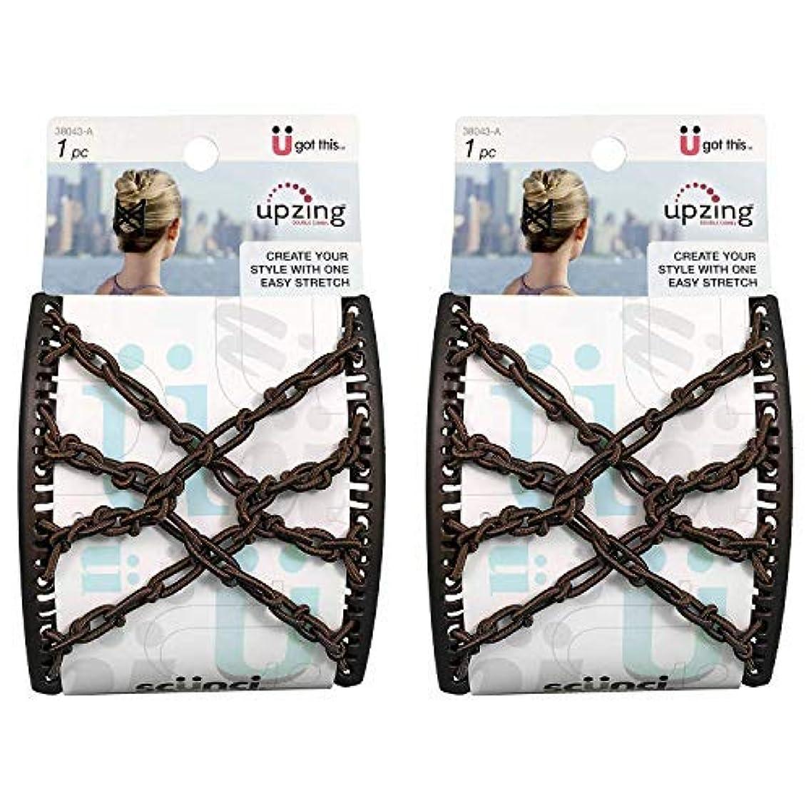 罪悪感極めて重要な実験的Scunci Braided Upzing Double Combs Large | Easy-Stretch, Assorted Colors | 2-Units [並行輸入品]