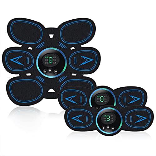 LABYSJ EMS Electroestimulador Muscular Abdominales, Gluteos Abdominal Equipo de Entrenamiento, USB Recargable y Pantalla LED, para Hombres y Mujeres