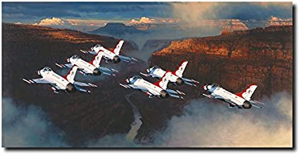 Planejunkie Thunder in The Canyon by William S. Phillips - Thunderbirds - Aviation Art Print
