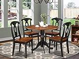 East West Furniture DLKE5-BCH-W 5-Piece Kitchen Table Set, Black/Cherry Finish