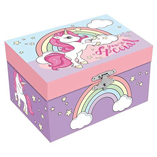 Desconocido Kids 785067 – Portagioie musicale con unicorno, 15 x 11 cm