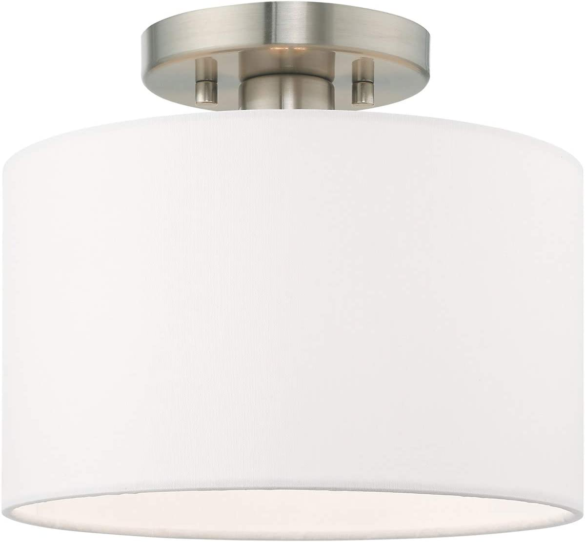 Livex Inventory cleanup selling sale Lighting 41095-91 1 Lt Ceiling Mount Brushed Nickel Max 41% OFF