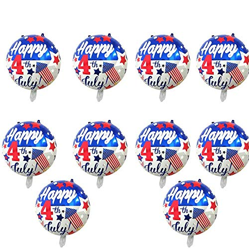 BinaryABC Happy 4th of July Balloons,American Flag Patriotic Balloons,Fourth of July Independence Day Party Supplies,10Pcs