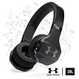 JBL Under Armour Sport Wireless Train – Engineered by JBL - On Ear Bluetooth Headphones with Microphone made for Sport. Wireless Headset with IPX4 Sweatproof, works with Android and Apple iOS (Black/Gray)