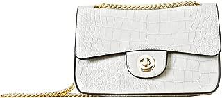 Crocodile bags for women leather chain shoulder bag women grey purse handbag