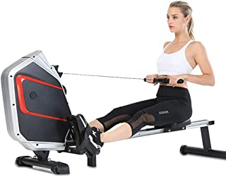 Rowing Machine,Household Magnetically Controlled Silent Foldin Rowing Machine,Rowing Machine for Home Use Fitness Equipmen...