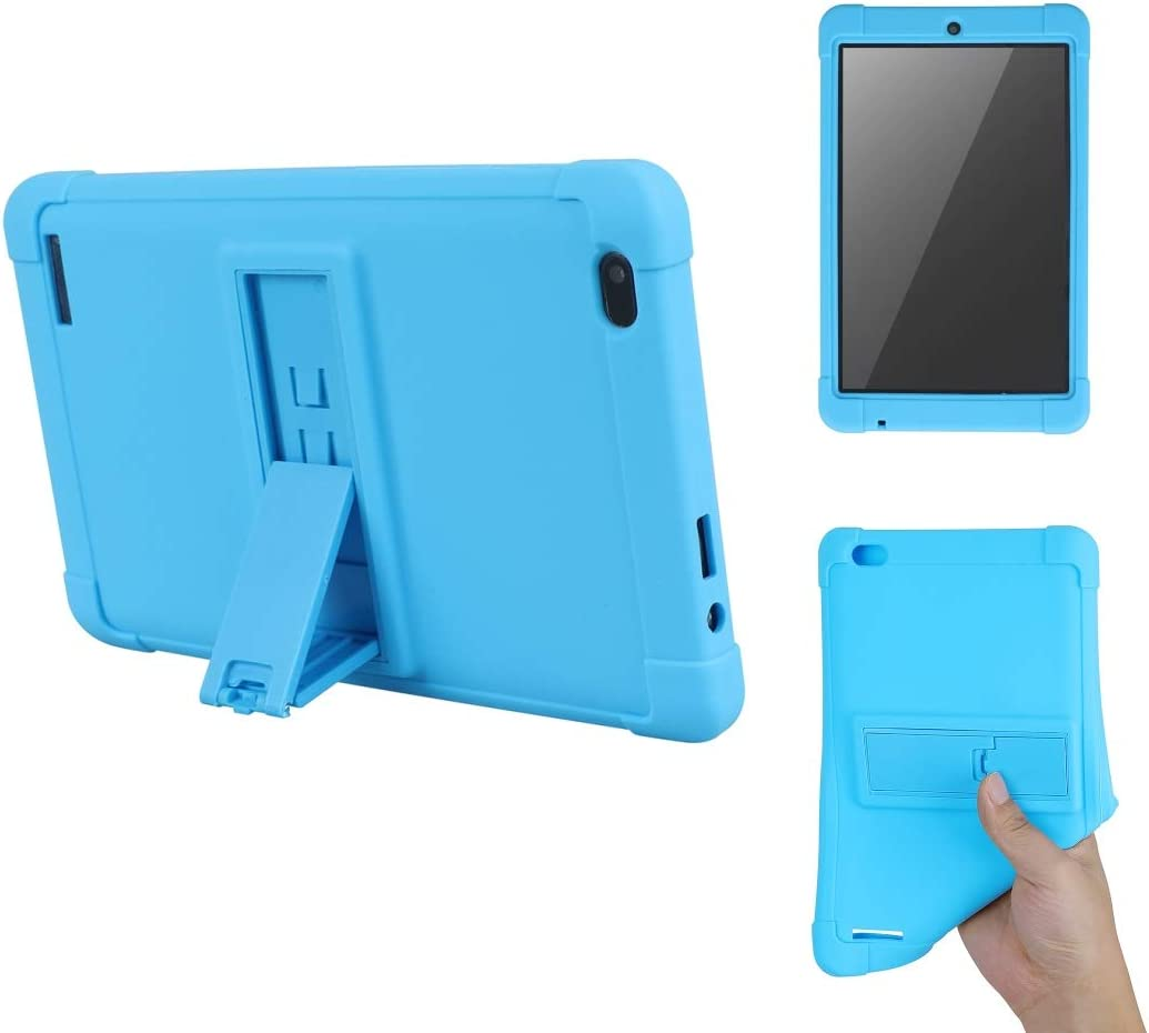 Amazon Com Onn 8 Inch Tablet Case Kickstand Shockproof Silicone Case Cover Pc Tablet Bracket Stand Case For Onn 8 Inch Tablet Blue Computers Accessories