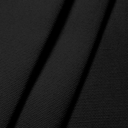 STOFFKONTOR Outdoor Stoff Markisenstoff - Outdoorstoff Meterware wasserabweisend - Sonnenschutz Stoff Blickdicht und farbecht - Schwarz