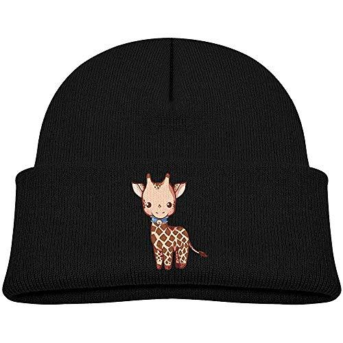 Tracray Gorro de Punto para niños Sombrero Jirafa Dibujada Sombrero de Invierno Kawaii Gorro de Punto de Calavera para niños Niñas Rosa