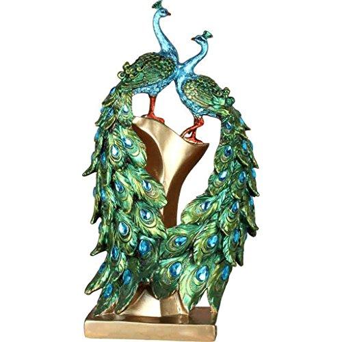 Luxe Créative Nouvelle Maison Technologie Peacock Décoration de Cabinet de TV Décorations modernes d'armoires de vin Cadeaux de mariage GAOLILI (Color : C)