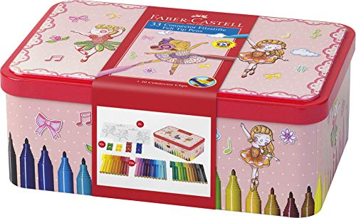 Faber-Castell 155534 - Filzstift Connector, 33er Ballerinabox