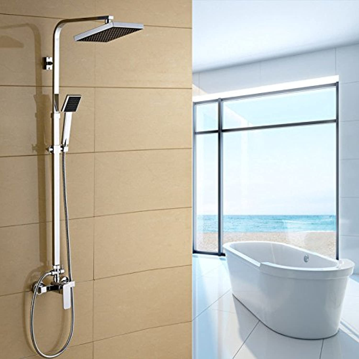 Bijjaladeva Antique Bathroom Sink Vessel Faucet Basin Mixer Tap Shower Faucet Kit Full brass waterfall faucet shower bathroom rain shower faucets sprinkler kit A