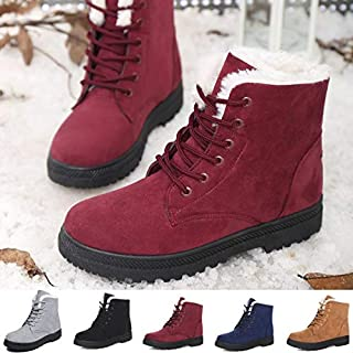Size 35-44 Plus Size Women Snow Boots Flat Cotton Shoes Winter Short Boots Botas de Inverno Bottes d'hiver(Blue,38)