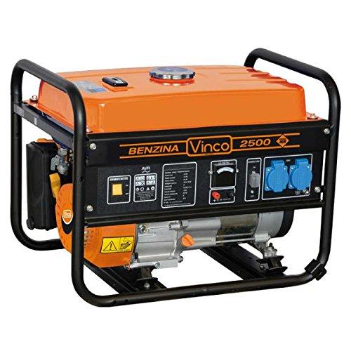 VINCO 60128 Generatore di Corrente, 2.2 Kw, Nero, 60x43x46 cm