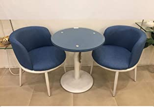 Blue Wooden Table Set with 2 Chairs