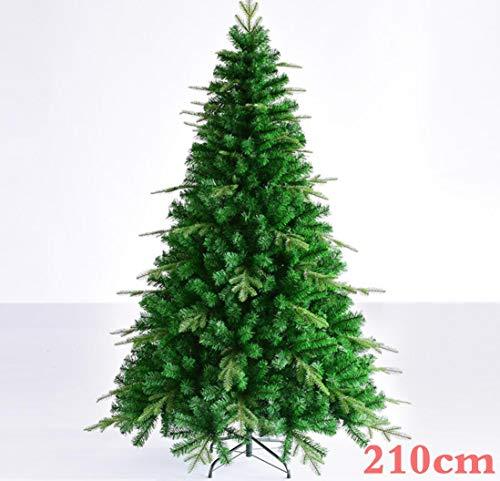 GAX Árbol De Navidad, 1,5 M 1,8 M 2,1 M Árbol De Navidad, De Lujo Cifrado Pequeña Hoja Mixta PE Árbol De Navidad, Navidad Familia Decorado Árbol De Navidad,210Cm