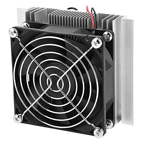 Asixxsix Enfriador termoeléctrico, Sistema de refrigeración por Agua Peltier termoeléctrico de Aluminio DIY, para frigorífico pequeño Mini Aire Acondicionado