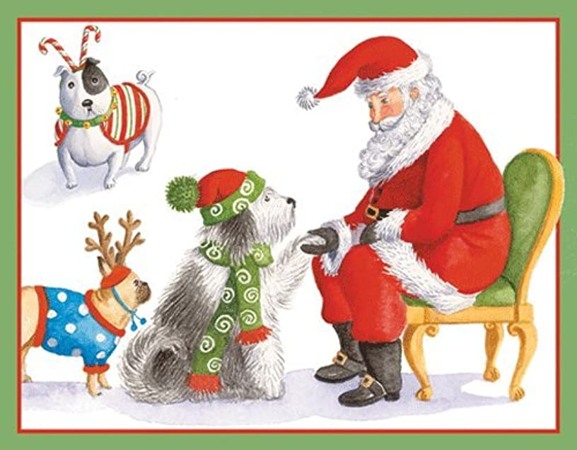 Christmas Tags Christmas Gift Tags Holiday Gift Tags with Envelope Waiting for Santa 8 Pc. 3.5