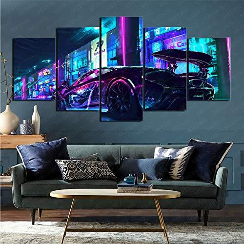 CJJCILEF 5 Panel Painting Wand PosterFahrzeuge Mclaren Mp4 Heilen Sie die Stimmung 150x80cm Rahmenlos