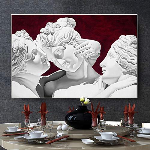 ZCFDXXH Simplicidad Moderna Dormitorio Principal de Estilo nórdico Comedor Junto a la Cama Pintura Decorativa Arte Creativo Pintura decorativa-60x90cm (Sin Marco)