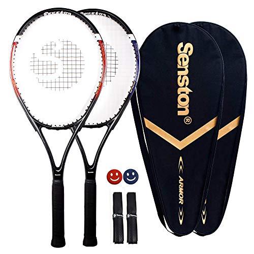 Senston 2X Tennisschläger Damen/Herren Tennis Schläger Set mit...