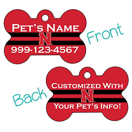uDesignUSA Nebraska Cornhuskers 2-Sided Pet Id Dog Tag | Officially Licensed | Personalized for Your Pet California