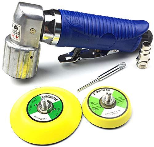 Fahrzeugteile Hoffmann Craft-Equip Mini Druckluft Exzenterschleifer 75mm + 50mm Klett-Schleifteller im Lieferumfang