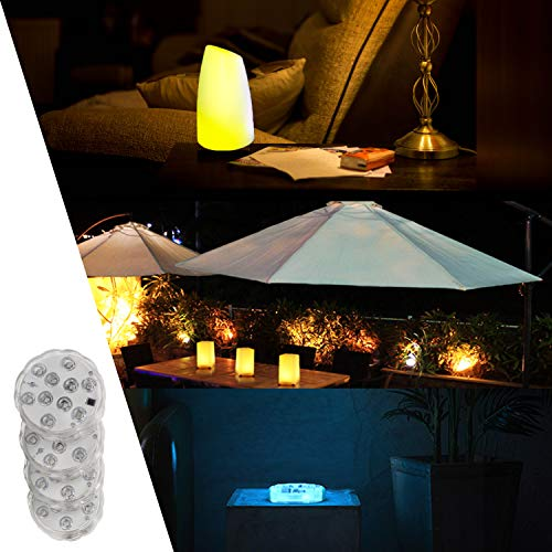 Submersible Led Lights with Remote - 2021 Underwater Led Lights - Waterproof Light Pad - Led Lights Battery Operated - Aquarium Lights Decorations - Fountain,Pond Lights -Four Remote Controls Included