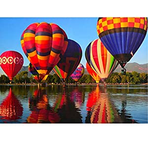 Rocorose 1000 Piece Jigsaw Puzzle, Hot Air Balloon Floor Puzzle for Kids Adults