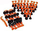 kaheign kit sistema di livellamento piastrelle, 100 pezzi riutilizzabile distanziatori livellatori per piastrelle per la costruzione di pareti pavimenti + chiave speciale