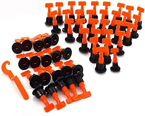 KAHEIGN Kit De Sistema De Nivelación De Baldosas, 100 Piezas Espaciadores De Niveladores De Baldosas Reutilizables Para La Construcción De Suelos De Paredes + Llave Especial