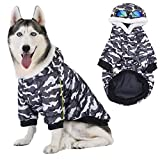 Dog Warm Clothes for Large Dogs,Waterproof Vest Coat for Cold Weather Winter,Windproof Cotton Padded Dog Thermal Jacket for Huskies Samoyed Alaskan Malamute
