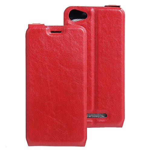 Litao-Case CN Hülle für WIKO K Kool hülle Flip Leder + TPU Silikon Fixierh Schutzhülle Case 1