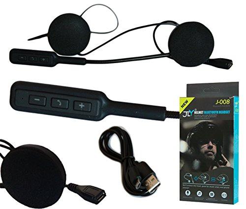 HEADSET MICROFONO AURICOLARE BLUETOOTH IMPERMEABILE PER CASCO MOTO SCOOTER MP3